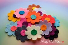 Felt Flower Pack (10 round flowers) Die Cut Floral Craft Embellishments