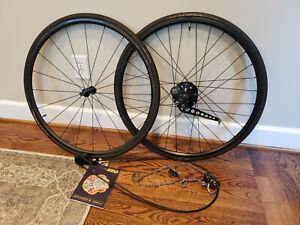 Off The Front 700c Carbon Fiber Tubular Wheelset with Rohloff 500/14 Speedhub