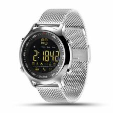EX18 Waterproof Sport Smart Watch Bluetooth Bracelet For Android&iphone Sliver