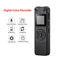 8GB Professional Voice Recorder Activated Dictaphone LCD Rechargeable MP3 Player