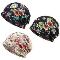 Fashion Womens Flower Lace Turban Hat Summer Slouchy Beanie Breathable Hats US