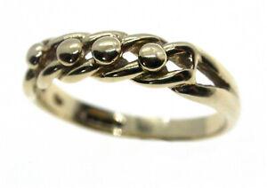 Vintage 9ct Gold Shot Keeper Ring c1979 Sheffield HM UK P Beautiful Quality