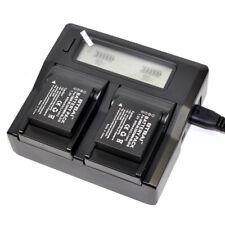 LCD Charger +2x Battery For Panasonic DMW-BLG10 DMW-BLE9E Lumix DMC-GX7 DMC-GX85