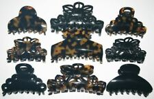 Hair Claw Ornate Toothed French Jaw Clip Flower Floral Tortoise Made in France