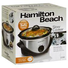 Hamilton Beach Silver 4-quart Oval Slow Cooker