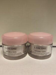 Lot of 2 Lancome Hydra Zen Gel-Creme Hydratant Anti-Stress .5oz / 15 ml each