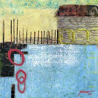 Original Contemporary Art Painting Collaged Hand-Made Papers USA by Sue Furrow