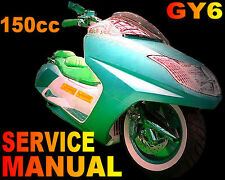 Scooter 150cc GY6 Repair Shop Manual GMI BMS SSR Bahama MC Zuma all MC Models