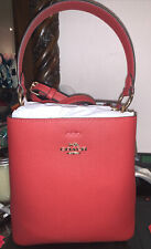 WOMEN COACH LEATHER RED/OXBLOOD SMALL HANDBAG AMAZING  NWT IMS75