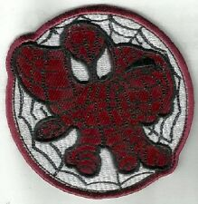 à repasser/à COUDRE PATCH BRODÉ BADGE spiderman spider man visage Web Circle