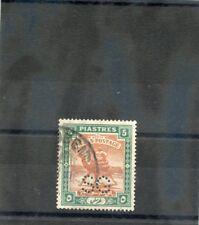 South Khartoum Sc -(Sg O19a)Vf Used 1913 5P Brown/Green Official, Perfin Os $18