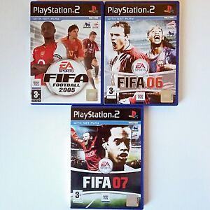 FIFA 05, 06 & 07 (3 X PS2, 2005-7 EA) PAL - Tested
