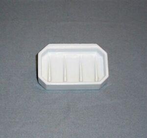 Antique Vintage White Ceramic Art Deco Soap Dish Bowl Wall Mount
