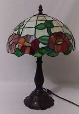 Rose Stained Glass Table Lamp Light