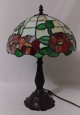 Table Lamp Stained Glass Roses