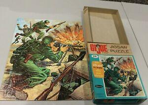 1965 GI Joe 150 pc Jigsaw Puzzle Machine Gunner 4647 Complete Whitman Hasbro HTF