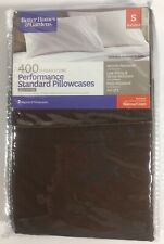Better Homes And Garden Brown Performance Standard Pillowcases 100% Cotton 400TC