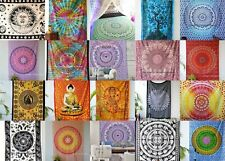 Wholesale lot 100 pc Indian Mandala Tapestry Wall Hanging Tapestry Bedding Twin