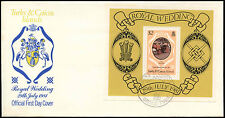 Turks & Caicos 1981 Royal Wedding, Princess Diana M/S FDC #C25724