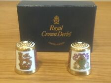 Royal Crown Derby Thimbles X 2 (23rd July 1986) Boxed Available Worldwide
