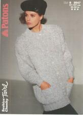 Vintage Patons Knitting Pattern No 8547 Jacket   in Chunky Size  32 - 42 in