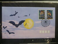 AUSTRALIA 1997 CREATURES OF THE NIGHT SET 2 P&S STAMPS FDC FIRST DAY COVER