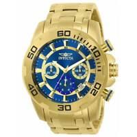 Invicta 22321 Men's Chrono Yellow Steel Bracelet Blue Dial Watch