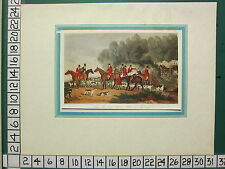 VINTAGE SPORTING PRINT ~ FOX HUNTING ~ HOUR OF MEETING