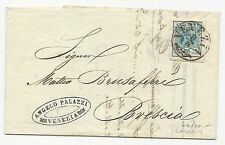 Italy Scott #6a on Cover Lombardy to Venice 1858 Folded Letter