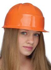 Enfants Construction Casque Chapeau Accessoire pour Déguisement Orange Neuf