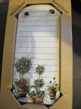 Kitchen Ceramic Dry Erase Memo Board 9in x 4in Vintage NIB
