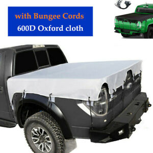 Truck Bed Tarp Cover Waterproof Heavy Duty  Pickup Truck Bed Cover  Bungee Cords