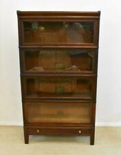 Globe -Wernicke 4 Stack Barrister,Quarter Sawn Oak Bookcase with Bottom drawer