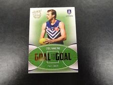 2017 AFL CERTIFIED GOAL 2 GOAL CARD GG26 JOEL HAMLING FREMANTLE