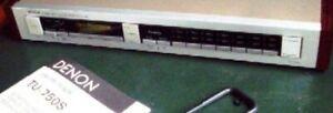 DENON TU-750S AM-FM TUNER, HIGH PRECISION, with MANUAL