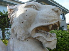 Vintage Venetian Winged Griffin/Gargoyle/Lion Carved Marble Architecture Element
