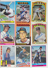 1976 TOPPS SIGNED AUTO CARD RON LEFLORE DETROIT TIGERS EXPOS WHITE SOX # 660