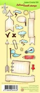 Leane Creatief Clear Combi Stamps - Banners, Arrows & Icons - 55.4636 - NEW IN