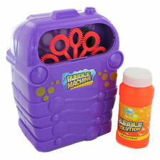 Grafix Bubble Machine Blower Disco Party Garden Toy & Liquid Solution SR49/17