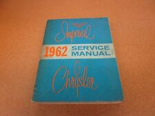 repair manuals \u0026 literature for 1962 chrysler imperial for sale ebay1962 62 chrysler 300 new yorker imperial shop service wiring manual original (fits 1962 chrysler imperial)