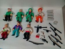 Vintage Playmates Dick Tracy Action Figure Lot of 7 with Weapons and Accessories