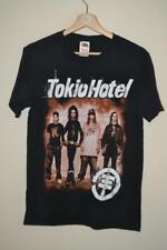 RETRO TOKIO HOTEL FRUIT OF THE LOOM BLACK 100% COTTON T-SHIRT SMALL MENS