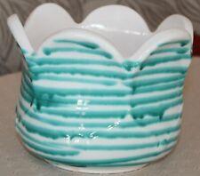 Gmundner Keramik Blumenübertopf, grüngeflammt, gebraucht