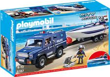 Playmobil  5187 COCHE DE POLICIA CON LANCHA    Nuevo  ENVIO NACEX 24h