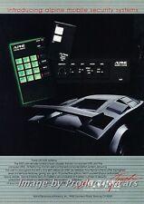 1984 Alpine Audio Lamborghini Countach Advertisement Print Art Car Ad J712