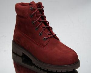 Timberland 6 Inch Premium Waterproof Junior Boots Older Kids' Dark Red Shoes