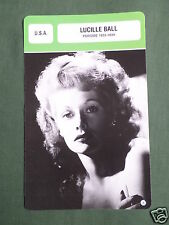 LUCILLE BALL - MOVIE STAR - FILM TRADE CARD - FRENCH