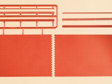 Auhagen 41205 ESCALA H0 ziegelmauern con dentículos Variables rojo #