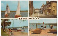 Hampshire; Lymington Multiview PPC, Unposted, Shows Keyhaven, Quay Hill, River