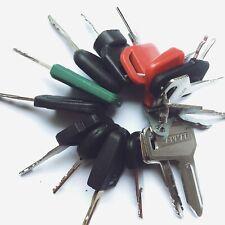 17pc Heavy Equipment Key Set Construction Ignition Keys CAT volvo Doosan Deere